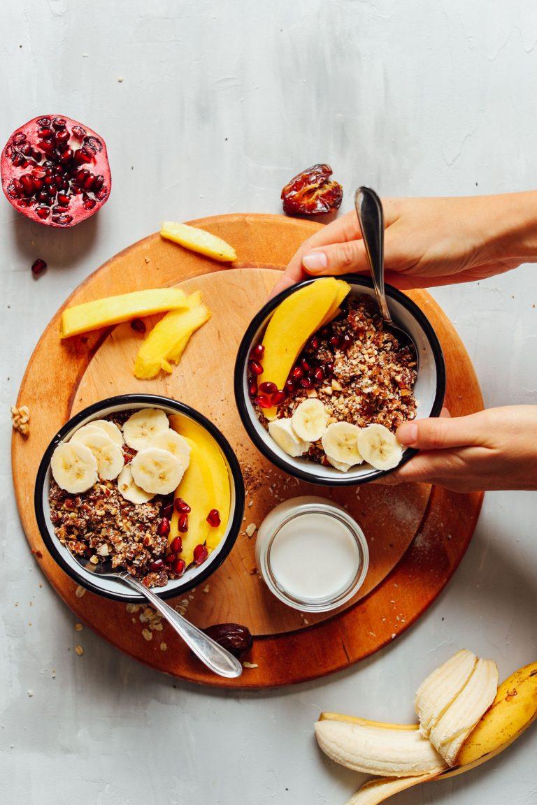 sirova granola doručak grickalica