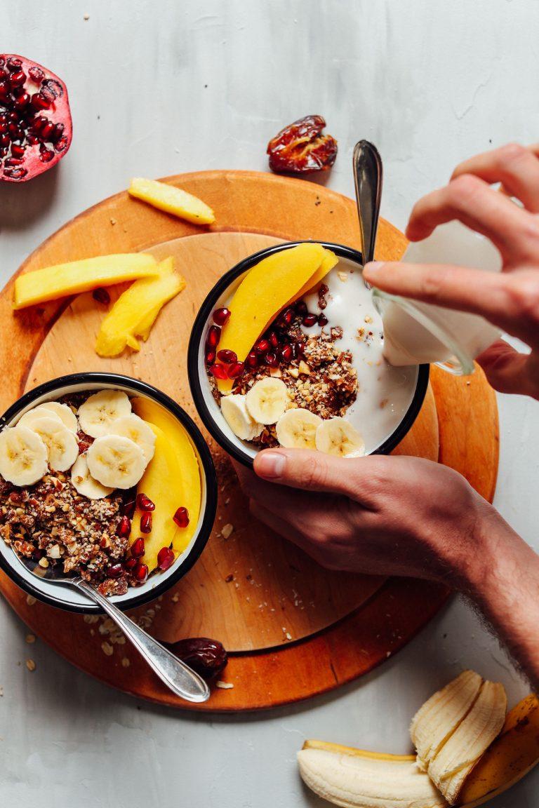 sirova granola jogurt mlijeko doručak međuobrok grickalica